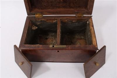 Lot 813-George IV pollard oak tea caddy