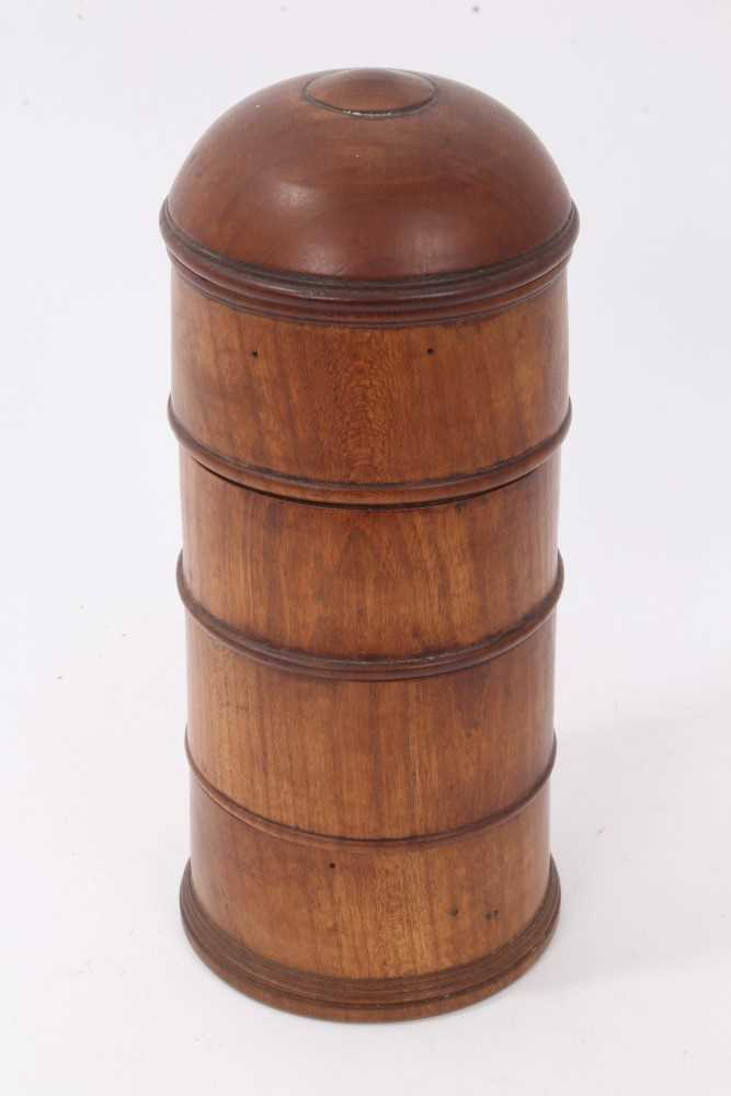 Lot 814-19th century fruitwood spice tower