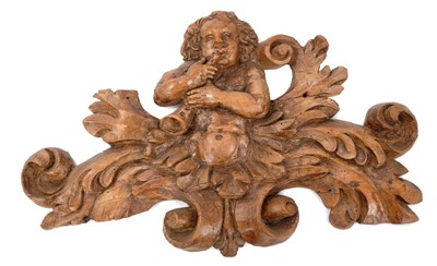 Lot 815-17th/18th century carved pine cresting