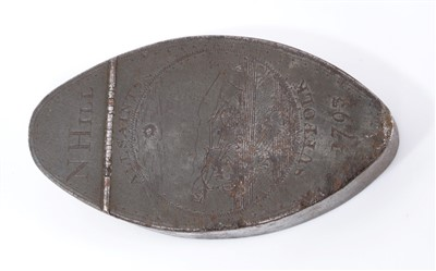 Lot 816-Of local interest: Rare George III engraved steel snuff box