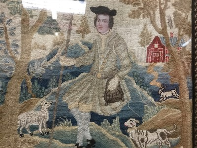 Lot 823-Fine quality 19th century needlework picture