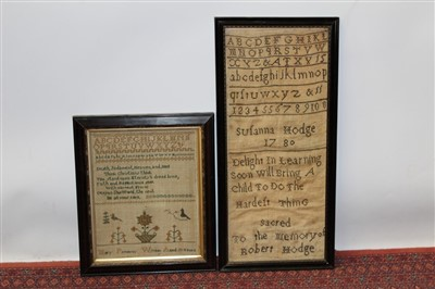 Lot 3087-George III embroidered sampler