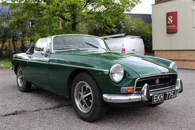 Lot 2952-1971 MGB Roadster, Reg. No. EKH 775J, finished in British Racing Green with a Black Vinyl interior