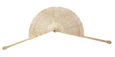 Lot 872 - Chinese carved canton fan