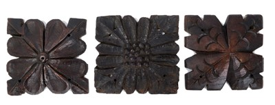 Lot 824 - Three Mediaeval carved oak roof bosses
