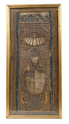 Lot 826-Very early Continental tapestry fragment