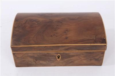 Lot 829-Regency yew jewellery box