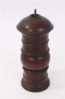 Lot 831-18th century lignum vitae pepper grinder
