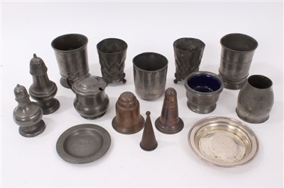 Lot 832-Collection of 18th / 19th century pewter table wares