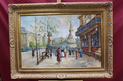 Lot 10-D. Benidix, twentieth century French School oil on canvas - A Paris Street