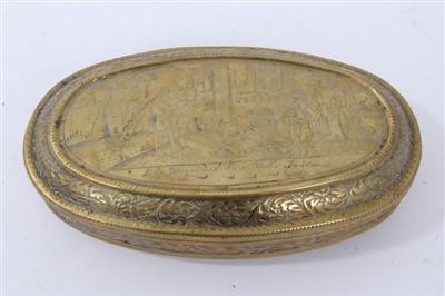 Lot 882 - 18th century Dutch tobacco box
