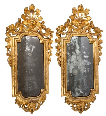 1498 - Fine pair of 18th century Venetian wall mirrors