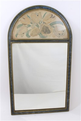 Lot 835 - Omega style painted wall mirror