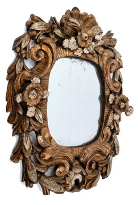 Lot 839-Late 17th / early 18th century carved gilt wood wall mirror