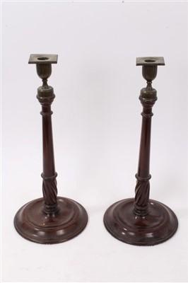 Lot 16-18th century Continental bronze pricket candlestick
