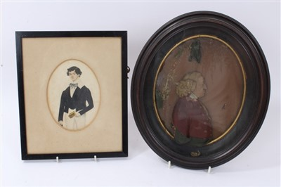 Lot 844 - 18th century wax relief portrait