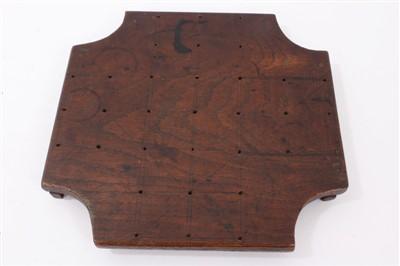Lot 845 - Antique oak nine-men's-morris board