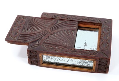Lot 847 - Unusual 18th century Continental treen box