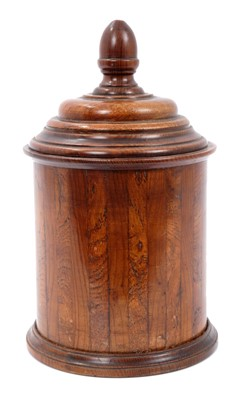 Lot 851 - Late 18th / early 19th century oak tea caddy
