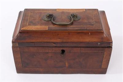 Lot 854 - Rare George III yew wood tea caddy