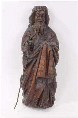 Lot 857 - 17th century carved oak figure