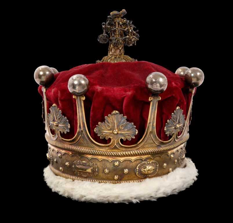 134 - The Coronation of HM King George IV in 1821 – The Earl of Westmorland's Coronation robes and coronet, circa 1821