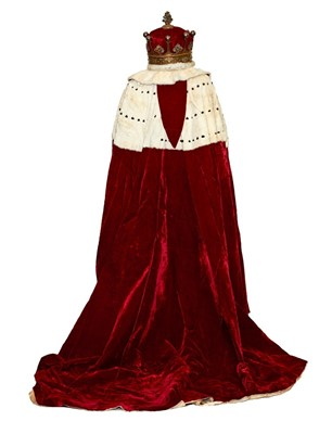 Lot 134-The Coronation of HM King George IV in 1821 – The Earl of Westmorland's Coronation robes and coronet, circa 1821