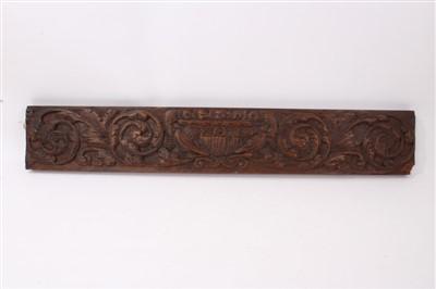 Lot 862 - 17tth / 18h century carved oak frieze