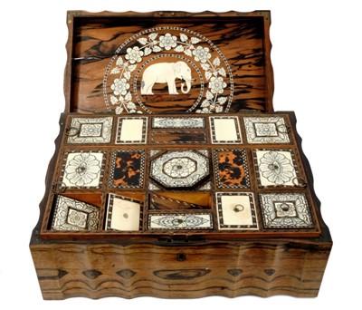 Lot 863 - Mid 19th century Anglo-Indian coromandel work box