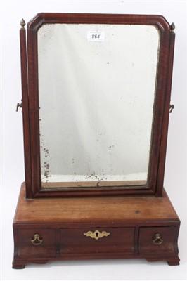 Lot 864 - George II mahogany swing frame toilet mirror