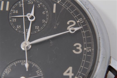 Lot 601-Rare Longines Avigation U.S. Hack wristwatch