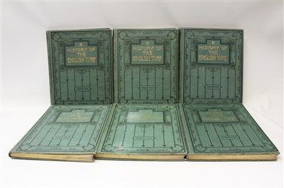 Lot 846-Books - six volumes, A History Of The English Turf, T. A. Cook, 1901