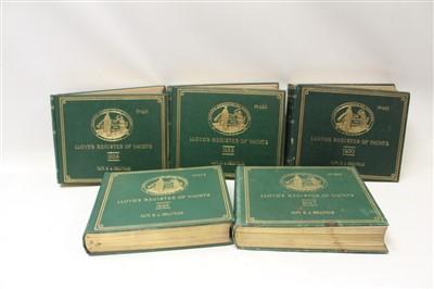 Lot 847-Books - five volumes, Lloyd's Register of Yachts 1925, 1927-1930
