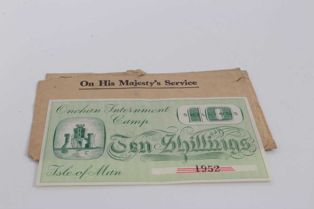 Lot 1 - Isle of Man – Onchan Internment Camp Ten Shillings banknote