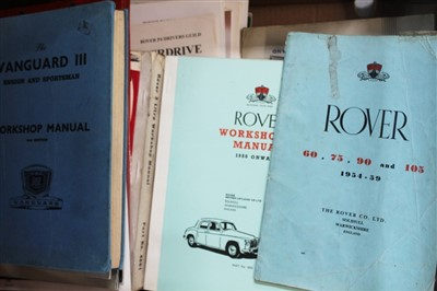 Lot 2963-Car manuals Morris, Rover Citroen etc
