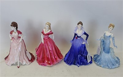 Lot 2003-Eight Coalport ladies-five ladies of fashion, Debbie, Belinda, Lady in lace, Anne and Joanne together with three Age of Elegance figures, Special Occasion, Moonlit Rendezvous and Summer Saunter (8)