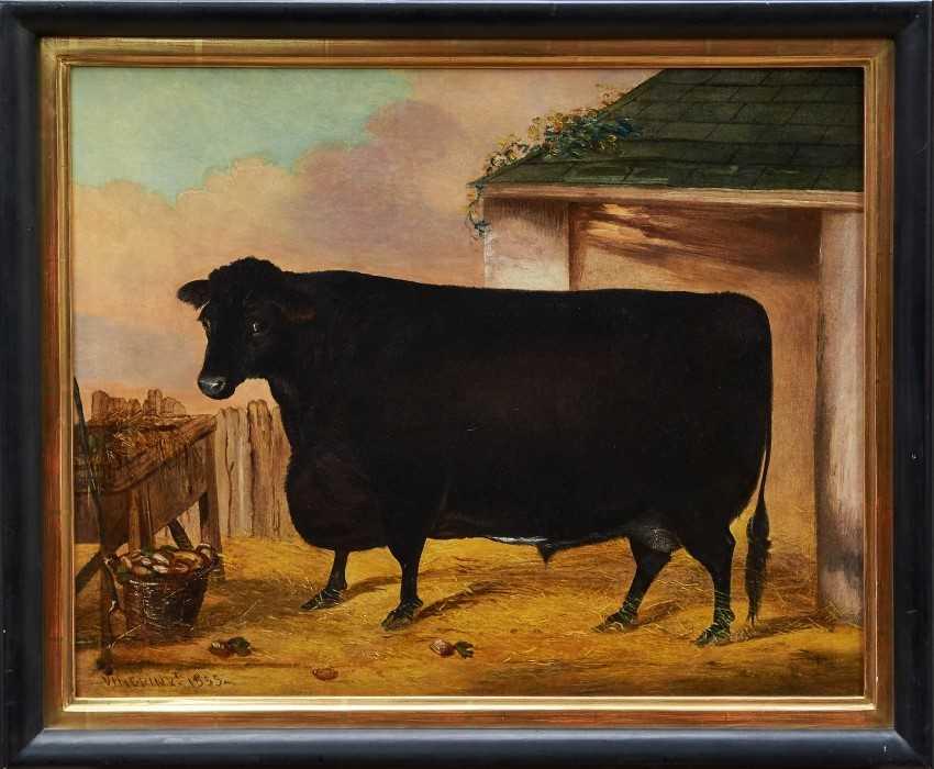 1123 - John Vine (1809-1867) oil on canvas Bull