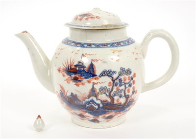 Lot 6-18th century Pennington Liverpool teapot and cover