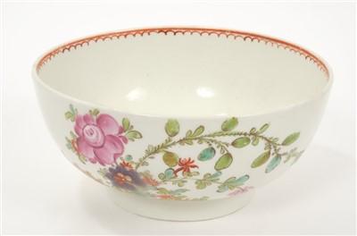 Lot 7-18th century Lowestoft Curtis-style bowl