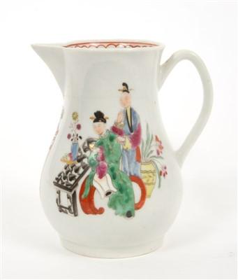 Lot 9-18th century Worcester sparrow-beak milk jug