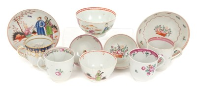 Lot 16-Collection of 18th century New Hall tea and coffee wares