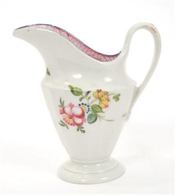 Lot 17-18th century New Hall helmet-shaped cream jug
