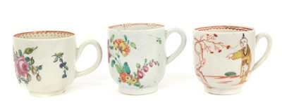 Lot 18-Three 18th century Pennington Liverpool coffee cups