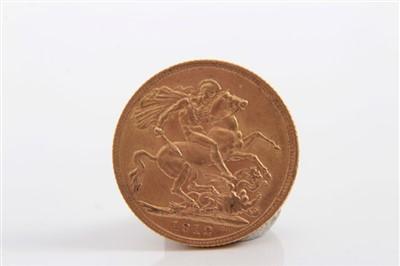 Lot 14-G.B. George V gold Sovereign