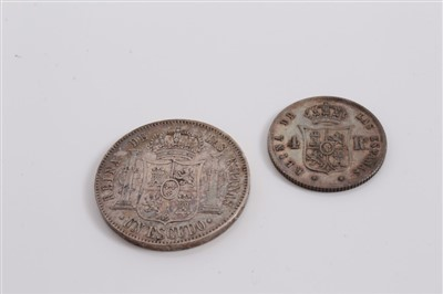 Lot 16-Spain – Isabel silver coins