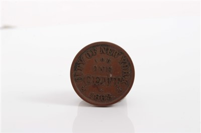 Lot 22-United States – Civil War store card AE token