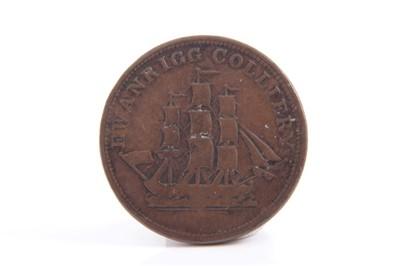 Lot 21-G.B. Cumberland, Ewanrigg Colliery, A. W. Hillary AE Pit Check token