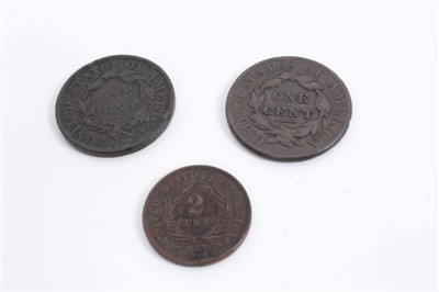 Lot 19-United States – copper coins