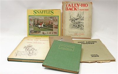 Lot 845-Books - six volumes, Seen From The Saddle By Lionel Edwards, Just Among Friends by Cecil Aldin