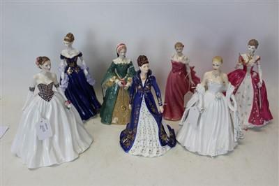 Lot 2023-Seven Royal Worcester ladies